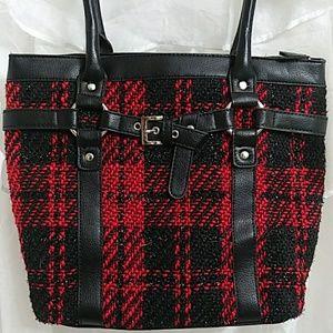New CROFT & BARROW Plaid Shoulder Bag